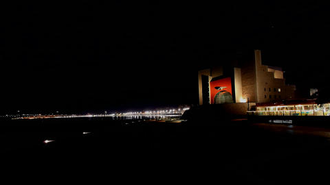 Auditorium Alfredo Kraus In Las Palmas De Gran Can stock footage
