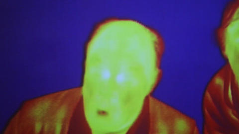 Infrared radiation thermal imaging camera of a fun Live Action