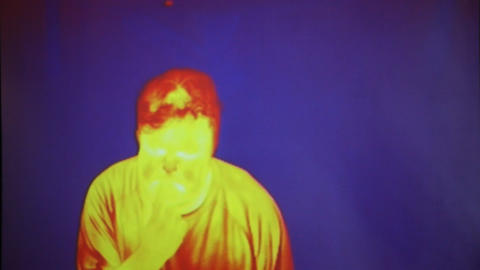 Funny face infrared radiation thermal imaging came Live Action