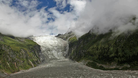 Hailougou Glacier, China - Time Lapse stock footage
