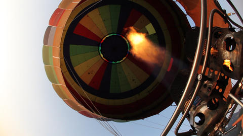 Hot Air Ballooning stock footage