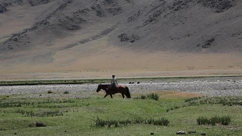 Mongolian landscape Footage
