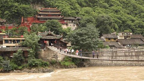 Luding Bridge - Mao Bridge Footage