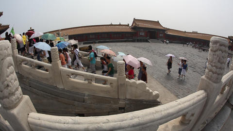 Forbidden City, Beijing, fisheye Footage