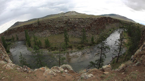 Stone River in Mongolia Footage