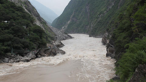 Tiger Leaping Gorge, China Footage
