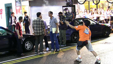 Movie Shooting In Hong Kong stock footage