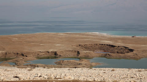 Dead Sea Sinkholes stock footage