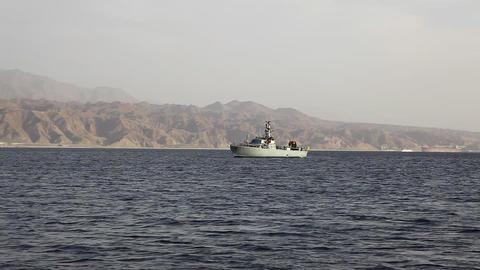 Israel army battle coastguard navy war boat in Eil Footage