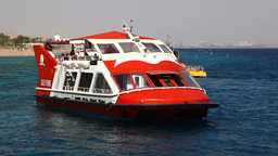 Glass Bottom Boat In Eilat, For Observing Of Fish, stock footage