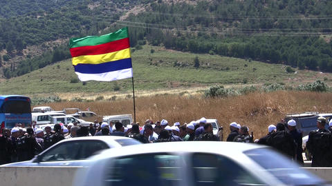 Druze protest gas pipeline on disputed land Live Action