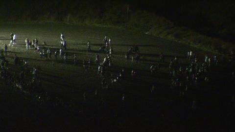 Zombies walk in the dark Footage