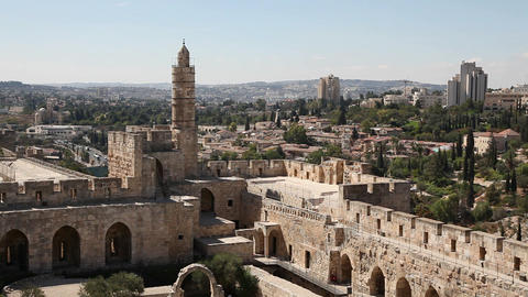 David tower, Jerusalem old city Footage