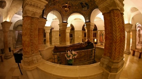 The Crypt at Basilica Church of the Dormition, Jer Footage