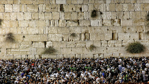 Slihot at the Western Wall, Jerusalem, time lapse Footage