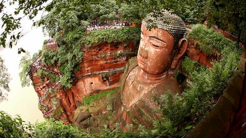 Giant Buddha, Leshan, China, time lapse Footage