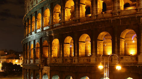 Rome: the Colosseum time lapse night Footage
