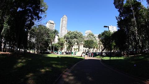 Republic Park sao Paulo Brazil Footage
