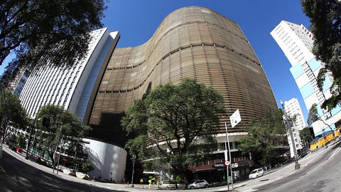 Copan Building Sao Paulo Brazil skyline Footage