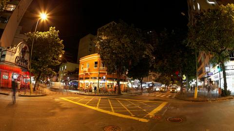 4K UHD Commuters take buses at Ipanema Rua Viscond Footage