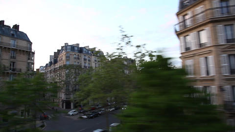 Paris France skyline in motion Footage
