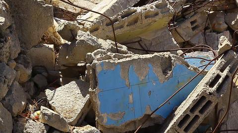 Rubble, earth quake Footage