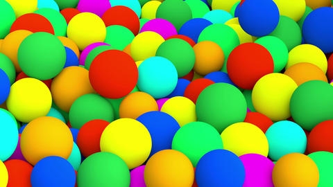 Falling Colored Spheres stock footage