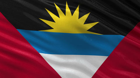 Flag of Antigua and Barbuda seamless loop Animation
