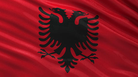 Seamless flag of Albania seamless loop Animation