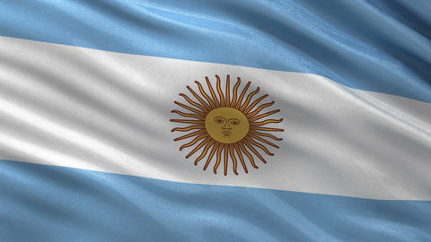 Flag of Argentina seamless loop Animation