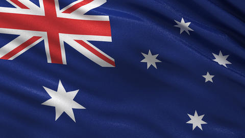 Flag of Australia seamless loop Animation