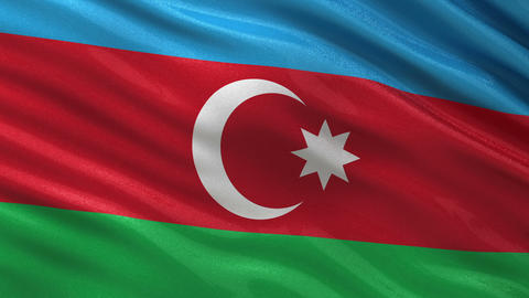 Flag of Azerbaijan seamless loop Animation