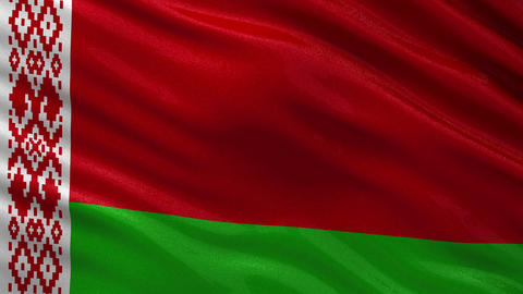 Flag of Belarus seamless loop Animation