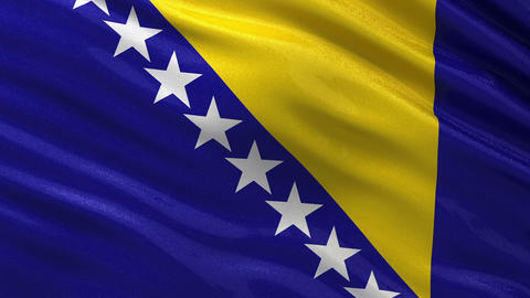 Flag of Bosnia and Herzegovina seamless loop Animation