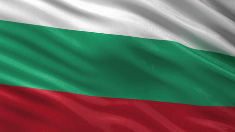 Flag of Bulgaria seamless loop Animation