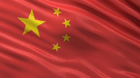 Flag of China seamless loop Animation