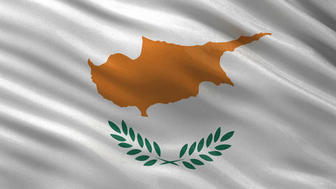 Flag of Cyprus seamless loop Animation