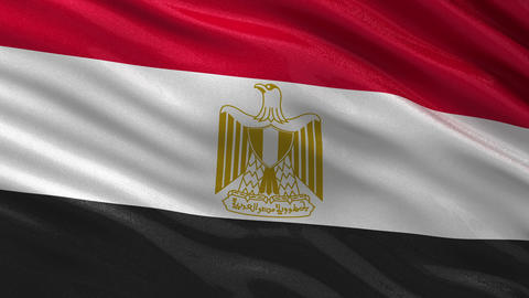 Flag of Egypt seamless loop Animation