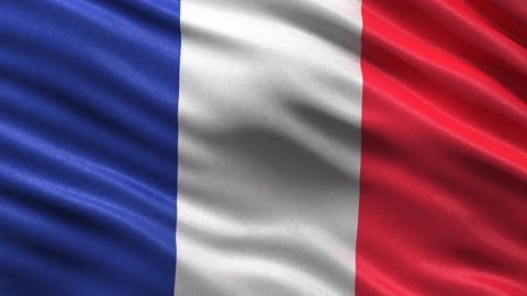 Flag of France seamless loop Animation