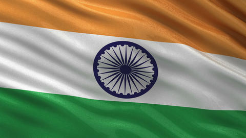 Flag of India seamless loop Animation