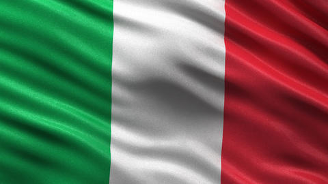 Flag of Italy seamless loop Animation