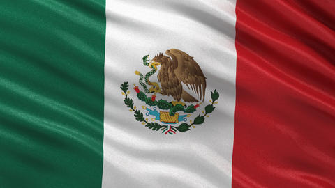 Flag of Mexico seamless loop Animation