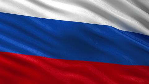 Flag of Russia seamless loop Animation