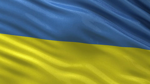 Flag of the Ukraine seamless loop Animation