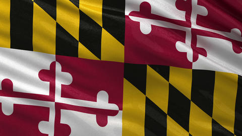 US state flag of Maryland seamless loop Animation