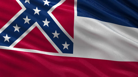 US state flag of Mississippi seamless loop Animation