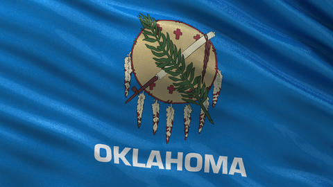 US state flag of Oklahoma seamless loop Animation