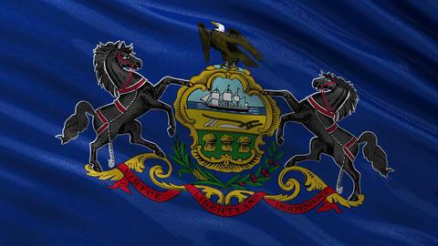 US state flag of Pennsylvania seamless loop Animation