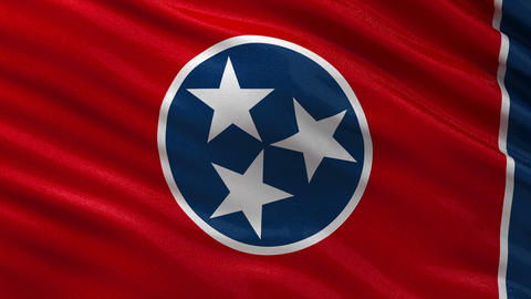 US state flag of Tennessee seamless loop Animation