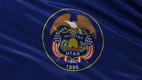 US state flag of Utah seamless loop Animation